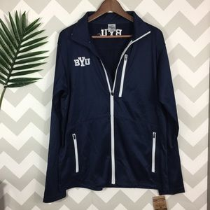 Other - BYU Brigham Young Cougars zip up sweater size M